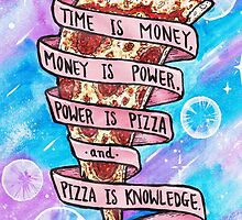 Pizza is Knowledge by taliaAF
