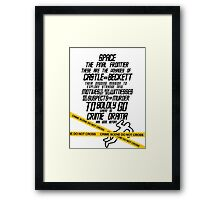 Castle The Final Frontier- v1b Framed Print