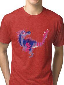 Bisexual Pride Dinosaur Tri-blend T-Shirt