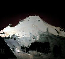 Mt Hood At Night by svetlananilova