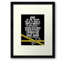Castle The Final Frontier- v2b Framed Print