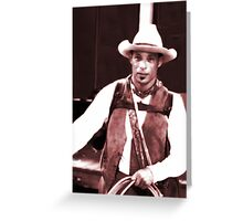 Lasso Man Greeting Card