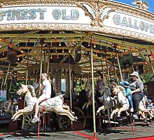 Who can resist a carousel ride? by Margaret  Hyde