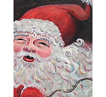 Jolly Santa Photographic Print