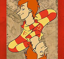 Fred and George Playing Card by imaginativeink