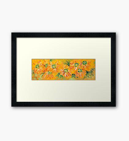 Textured Yellow Sunflowers Framed Print