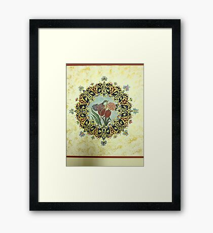 """The Tulip & The Bird"" Miniatures Framed Print"