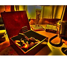 Peterson Pipes and Casino Matches Photographic Print
