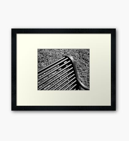 Bench (Film) Framed Print