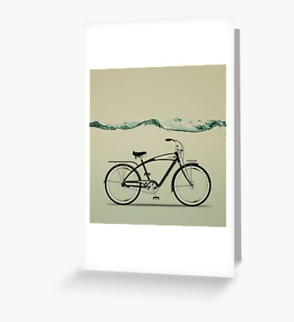 wet wheels Greeting Card