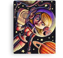 Space Girl's Mobile Canvas Print