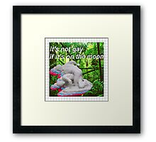 It's not gay if it's on the moon Framed Print