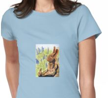 Terra Cotta Bunny Family Womens Fitted T-Shirt