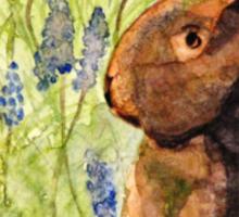 Terra Cotta Bunny Family Sticker