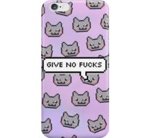 NYAN CAT 'GIVES NO FUCK' iPhone Case/Skin