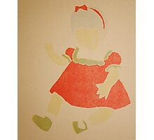 Doll- Red Dress Photographic Print