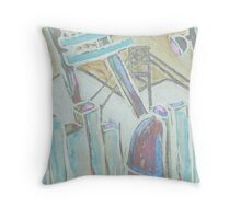 The coal mine Throw Pillow