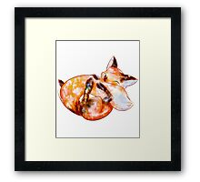 Water color fox Framed Print