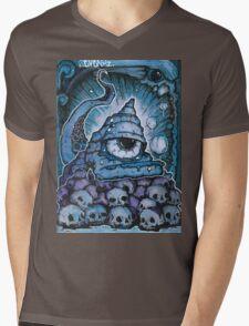 Cthonic Temple Smoke Mens V-Neck T-Shirt