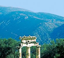 Tholos in the Shrine of Athena, Delphi, Greece by Priscilla Turner