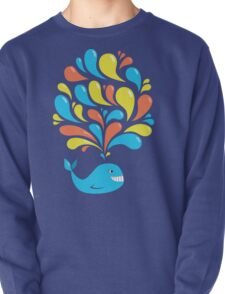 Funky Colorful Swirls Happy Cartoon Whale T-Shirt