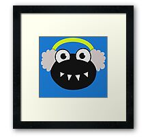 Cute Cartoon Bug Earmuffs Winter Framed Print