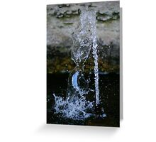 Playing with Water 2 Greeting Card