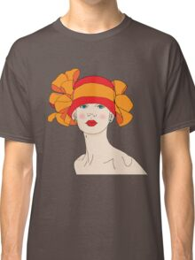 Girl in a Hat Classic T-Shirt