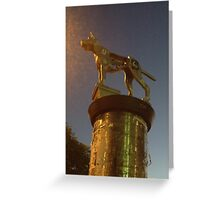 Marrickville running dog sculpture Greeting Card