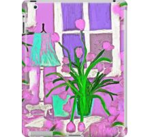 Pink Tulips for my Shabby Chic Home iPad Case/Skin