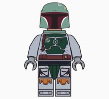 Boba Fett Brick Boy One Piece - Long Sleeve