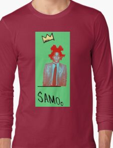 samo - green back Long Sleeve T-Shirt
