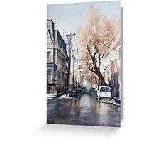 March on Plateau. Montreal. Quebec Greeting Card