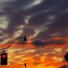 A Sunset in The City..... a November 2008 evening. by Larry Llewellyn