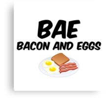 Bae - Bacon and Eggs Canvas Print