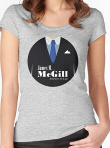Better Call Saul - James M. McGill Suit Women's Fitted Scoop T-Shirt
