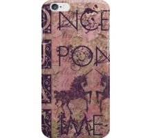 Once Upon a Time (OUAT) - Royal Magenta Evil Regal Unicorn Horse Equine iPhone Case/Skin