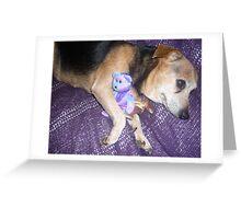 Dog and Beanie Bears Greeting Card