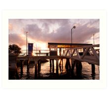 Sunset, cockatoo Island - 2, Sydney Harbour Art Print