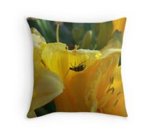 Underside of Lily Throw Pillow