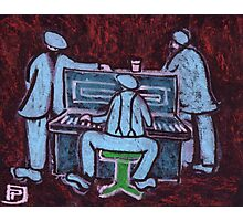 The piano player Photographic Print