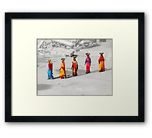 Building workers, Udaipur, India Framed Print
