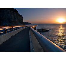Seacliff Bridge at dawn, Thirroul NSW Australia Photographic Print