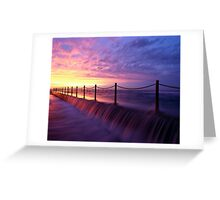 Mona Vale Ocean Pool, Sunrise Greeting Card