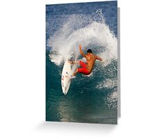 Tattooed Surfer Greeting Card