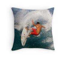 Tattooed Surfer Throw Pillow