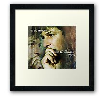 """Cover page of My new poetry and photo book """"The Day Met Itself"""" Framed Print"""