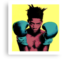 basquiat andy warhol style Canvas Print