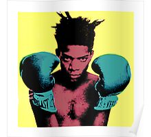 basquiat andy warhol style Poster