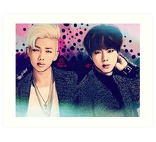 Jin and Namjoon Art Print